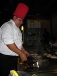 Chef prepares dinner