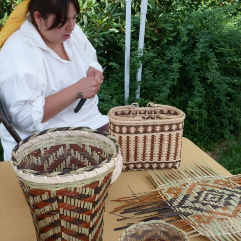 Basket Weaver, Cherokee Voices Festival