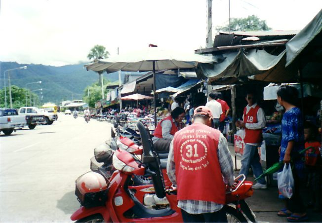 Motorbikes in Mae Hong Son
