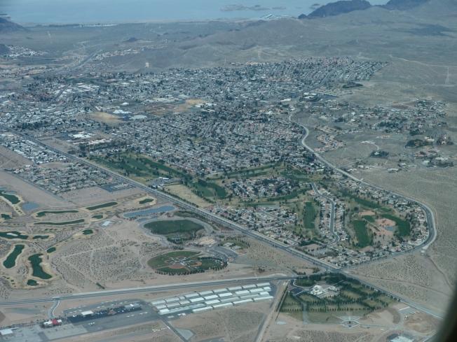 Flying over Vegas