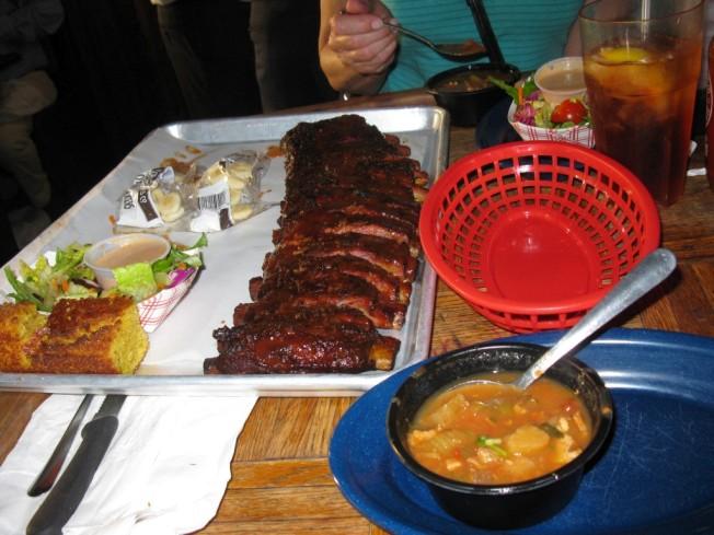 Dinner at Dinosaur BBQ