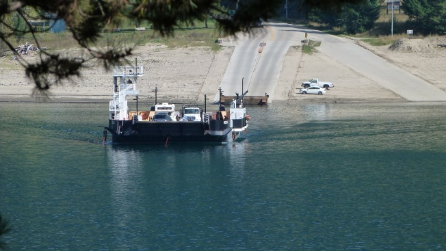 Needles Ferry coming  in