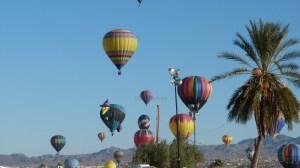 Balloons filling sky