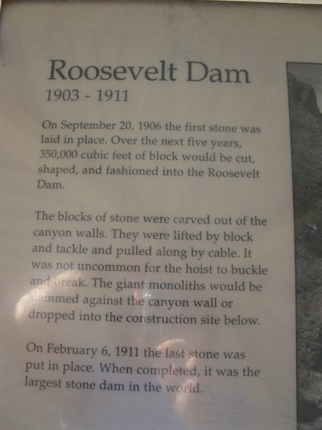 About Roosevelt Dam