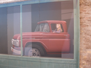 Girl in Flatbed Ford
