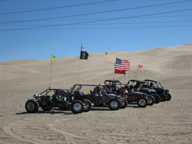 A party of dune buggies
