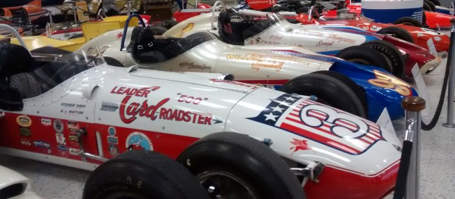 Former Championship Cars on display