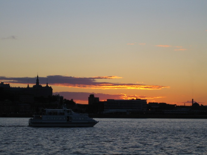Ferry boat at sunset, Quebec City