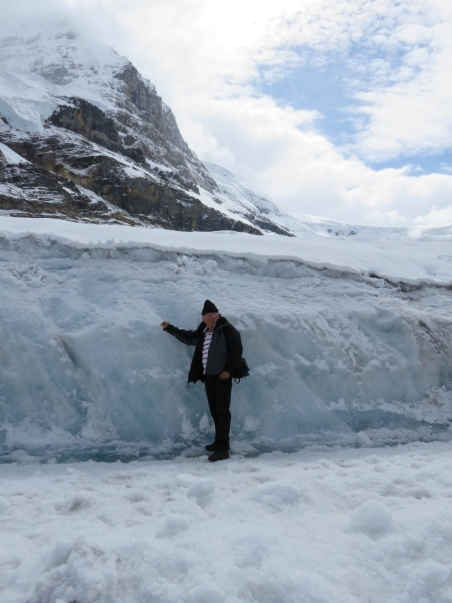 Jim standing on the glacier