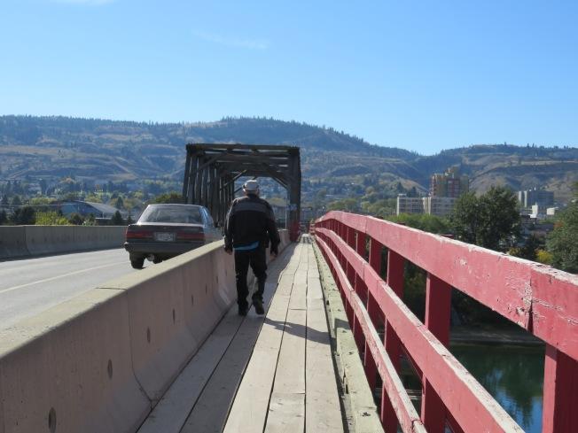 Crossing on the Red Bridge