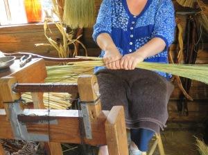 Broom Maker at Work