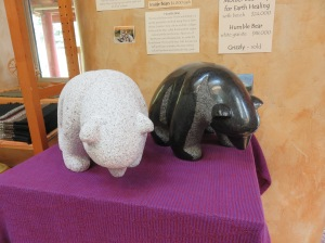 A couple more bear sculptures inside the Weaving Shop