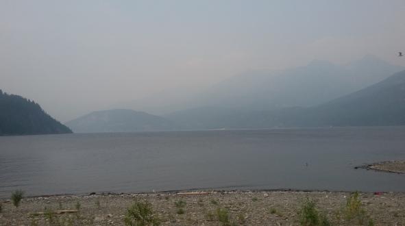 View from same beach, summer 2017