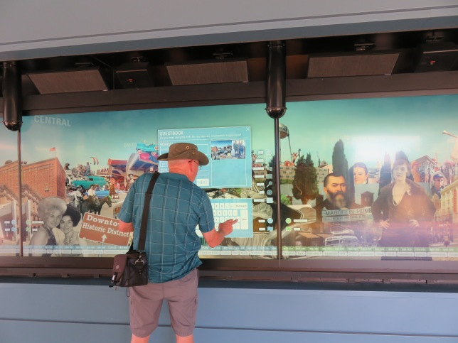 history museum digital wall