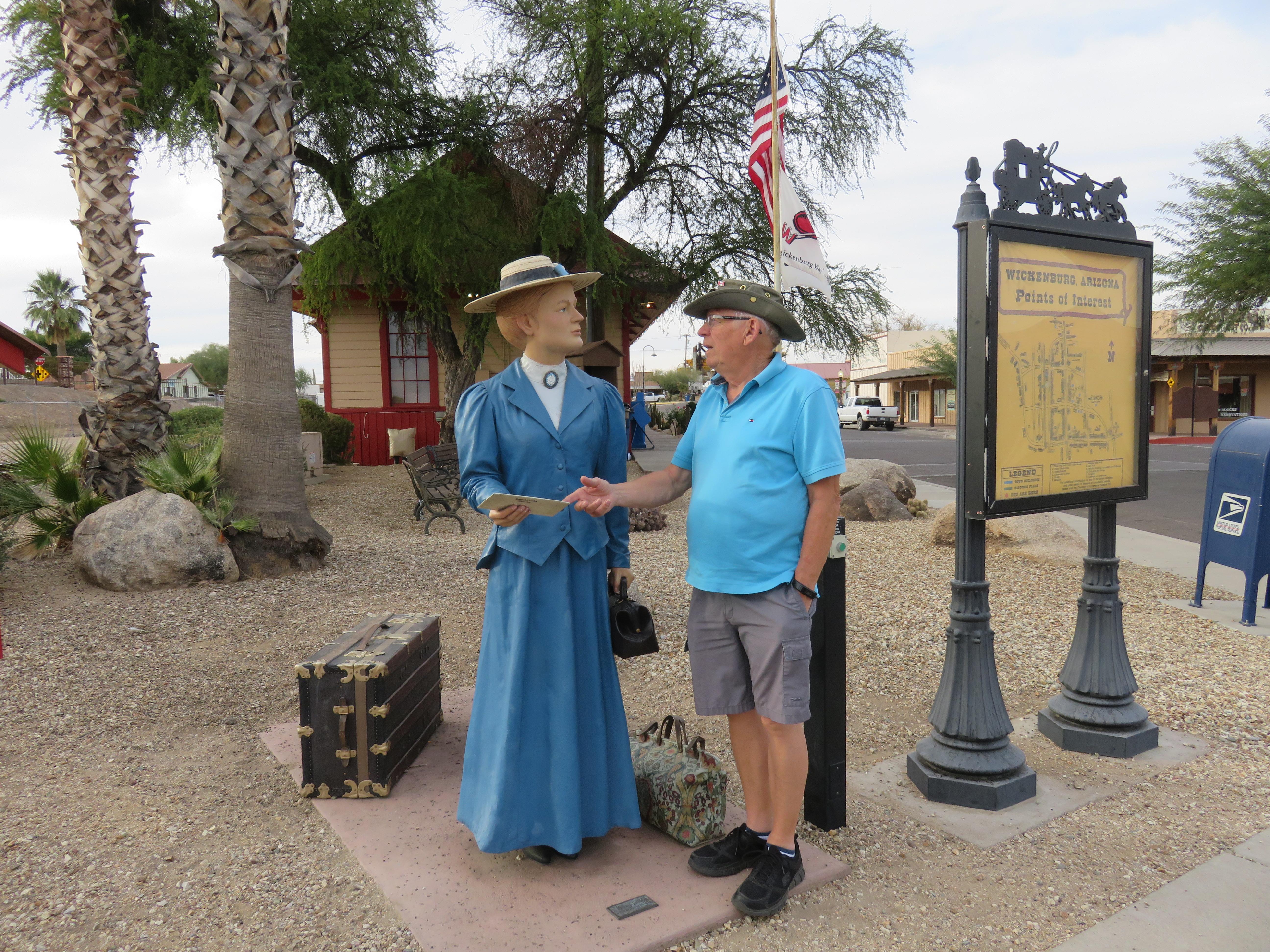 Jim and traveler