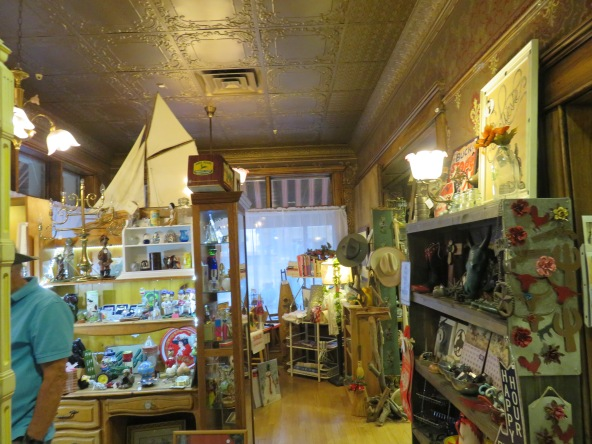 Inside an antique/new to you boutique