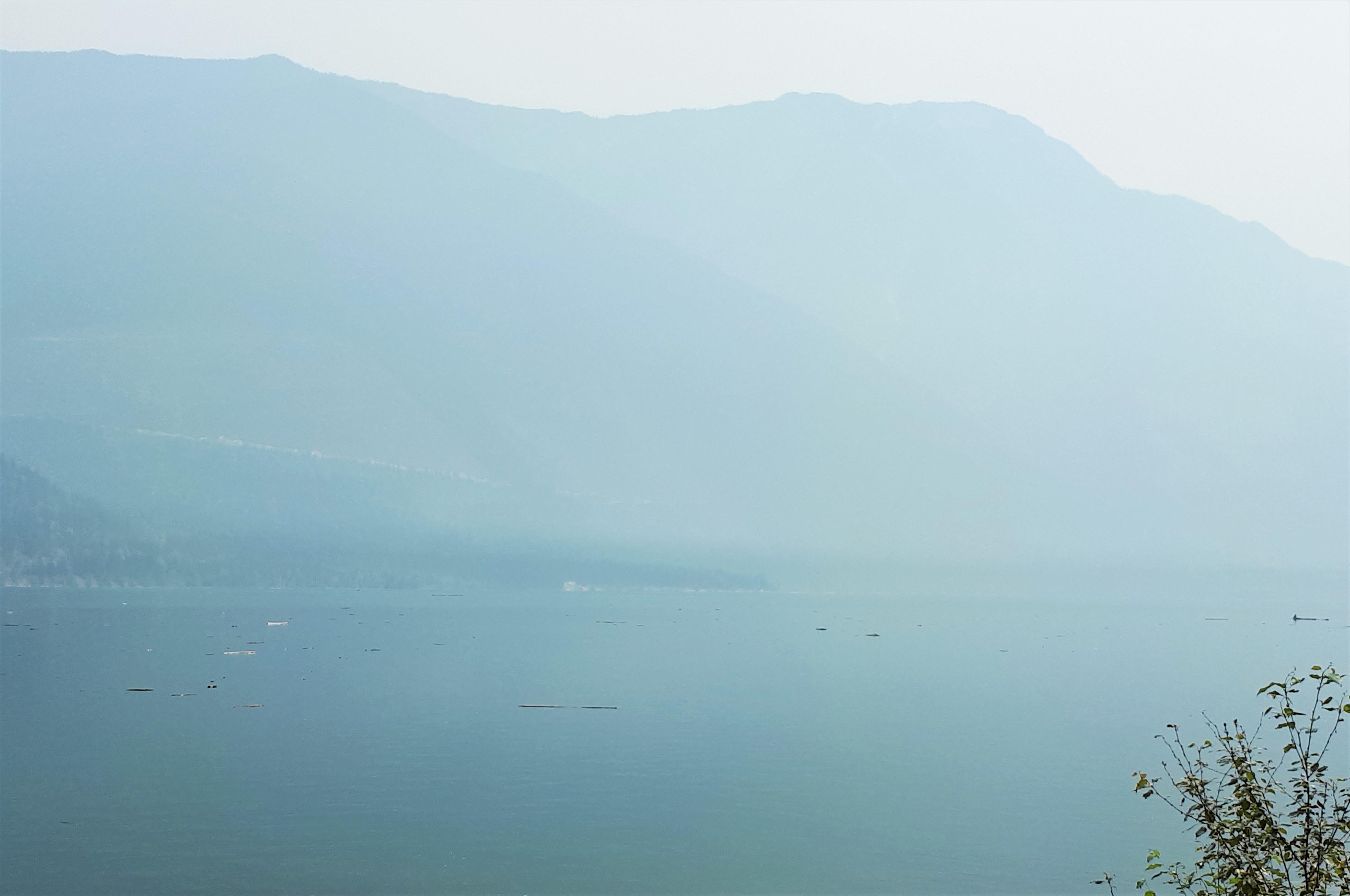 Smoke across Duncan Lake