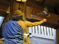 Noah coaxing a bird back